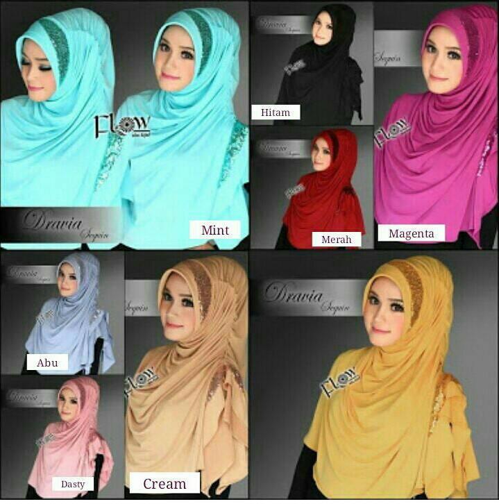 Jilbab Hijab Instan Kerudung Hijab Instan Dharia Flow