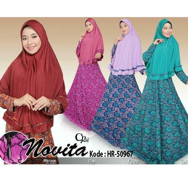 Setelan Hijab Syari Novita / Baju Muslimah / Baju Hijabers Set Hijab