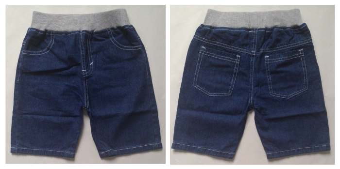 CLKDL10 - Celana Pendek Anak Laki Jeans Wash Navy Polos Murah