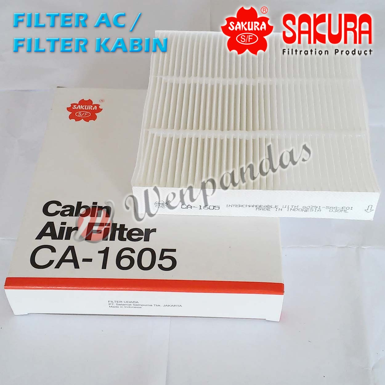 Filter AC Cabin Honda JAZZ TAHUN < 2007, CITY < 2008 Sakura CA-1605