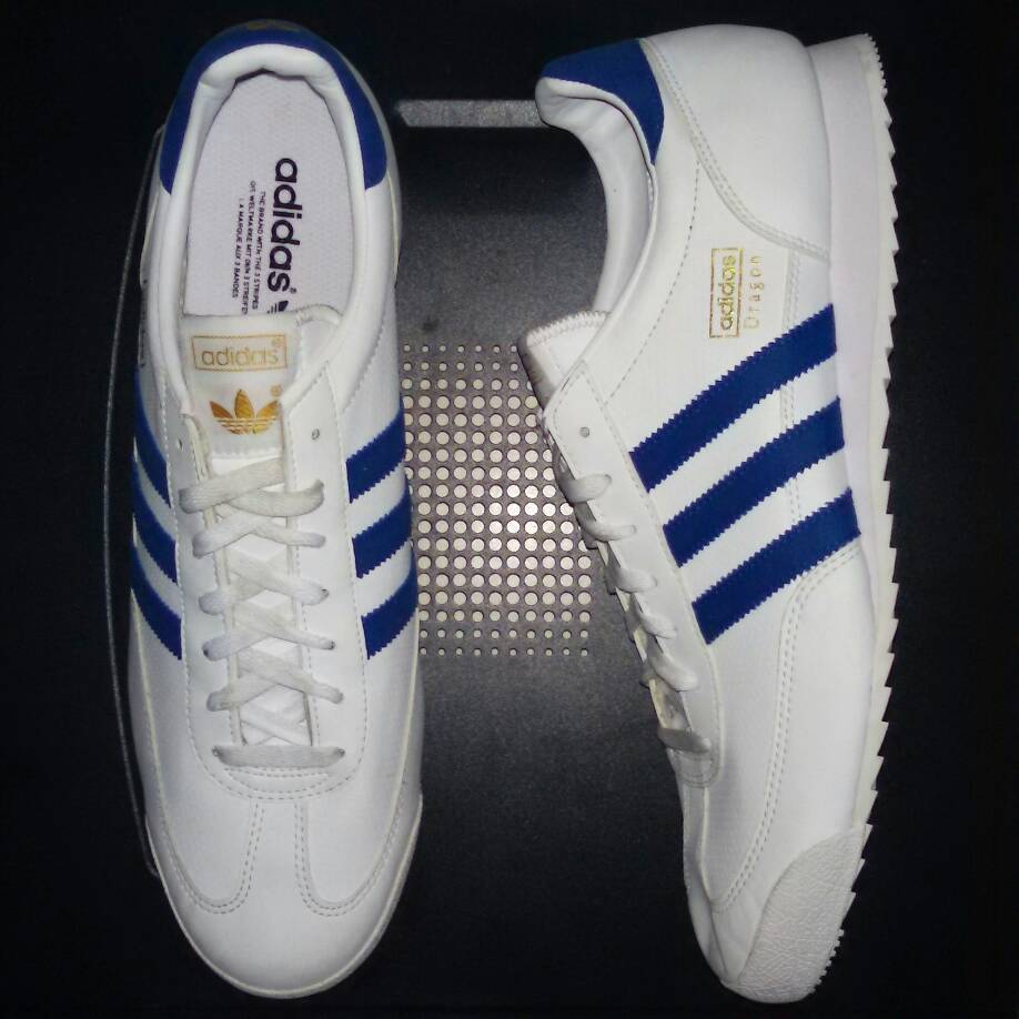 adidas dragon trainers white and blue