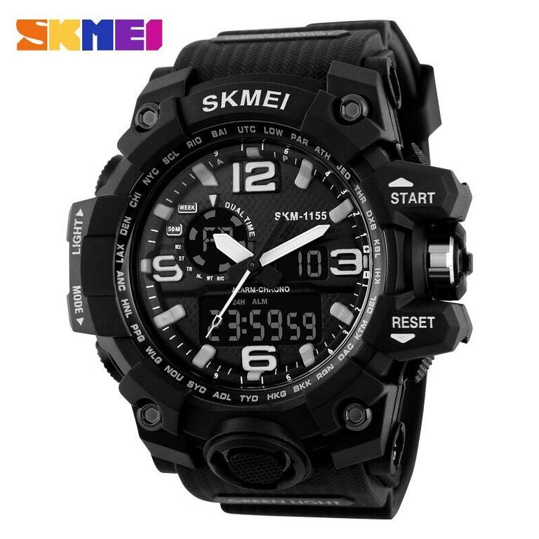 Jam Tangan SKMEI Casual Pria Strap Watch Water Resistant