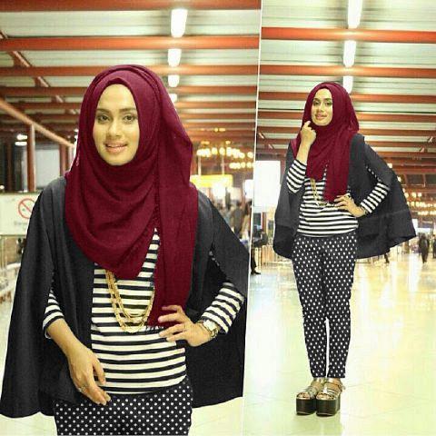 Stelan Erica hijab maroon