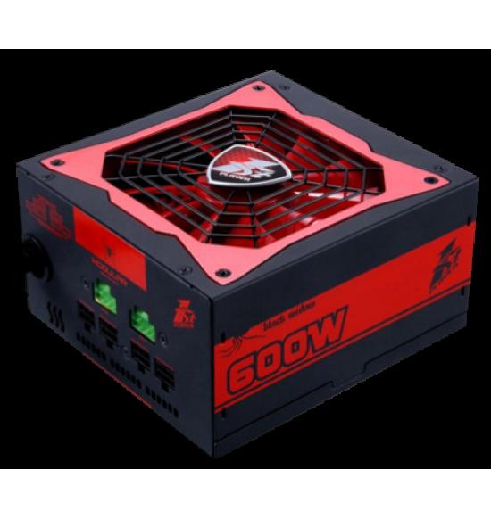 Hasil gambar untuk 1STPLAYER Gaming PSU Black Widow 600W PS-600 80+ Bronze With Flat cable