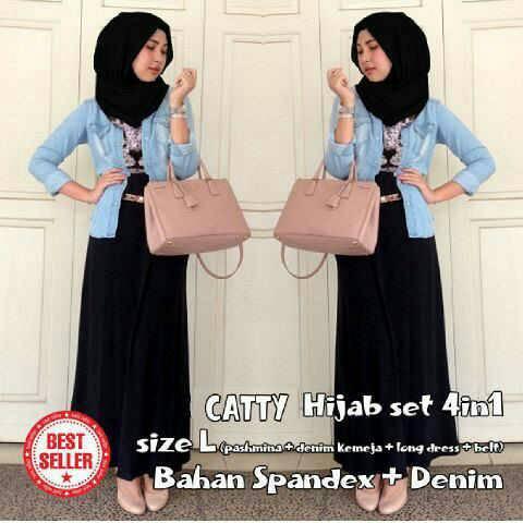 Catty Hijab set 4in1