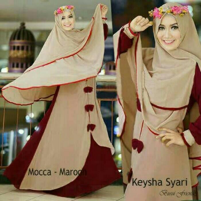 Busana muslim wanita/maxi/dress/gamis/setelan hijab fanta
