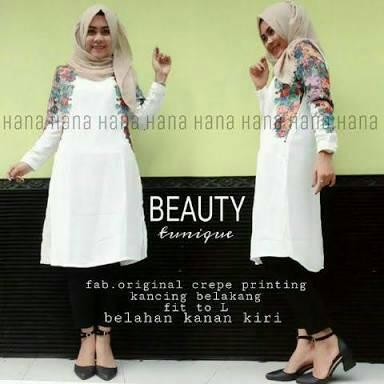 Baju Atasan wanita/Beauty Tunik/Baju Muslim/Dress Hijab