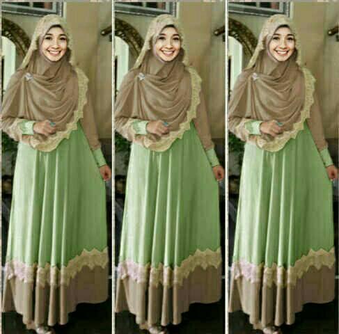 Ready hijab mint 6npcs