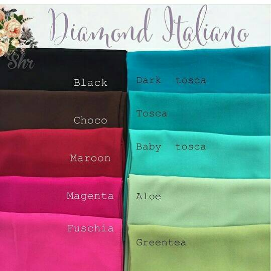 HIJAB PASMINA DIAMOND ITALIANO GEORGETTE CREPE WOOL | pashmina diamond