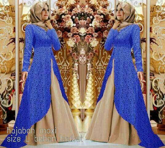 CJN_ Hajabah Hijab(biru) - Gamis hijab