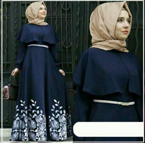 Hijab Maxy Flow Andriani Navy