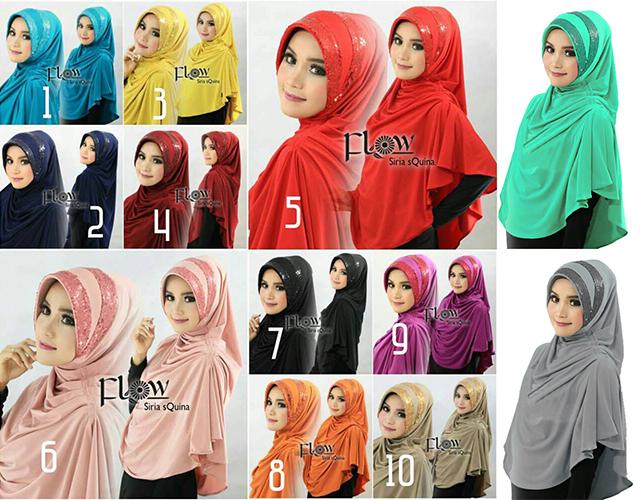 Hijab/Jilbab Instan Kerudung Jilbab Syari Syria Squina Premium