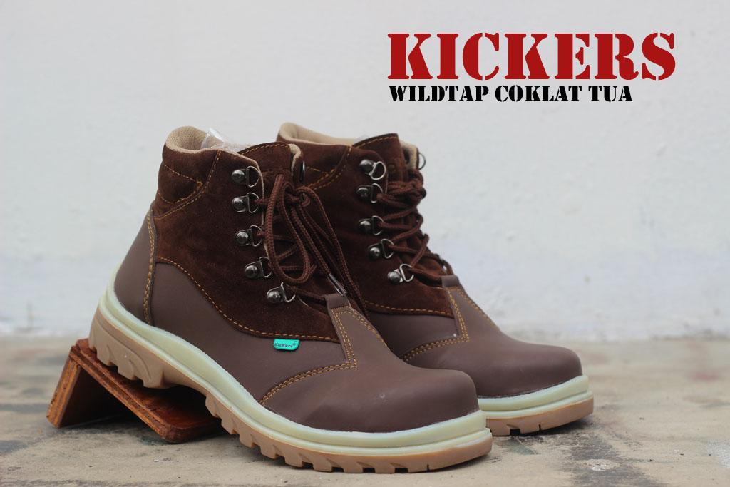 Sepatu Kickers Safety WildTap Coklat Tua