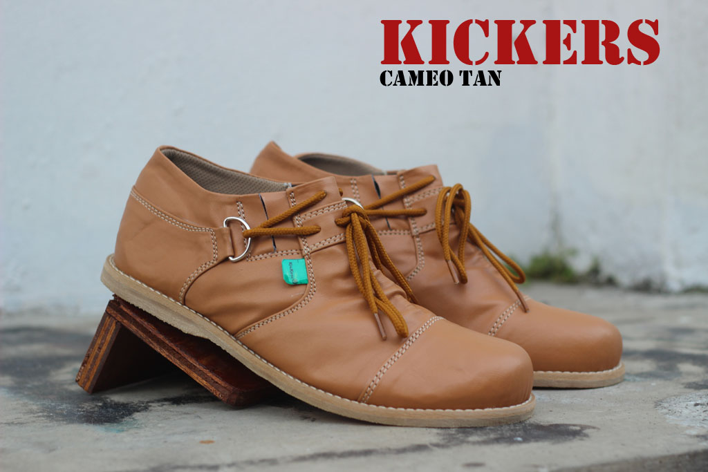 Sepatu Kickers Slop Cameo Tan