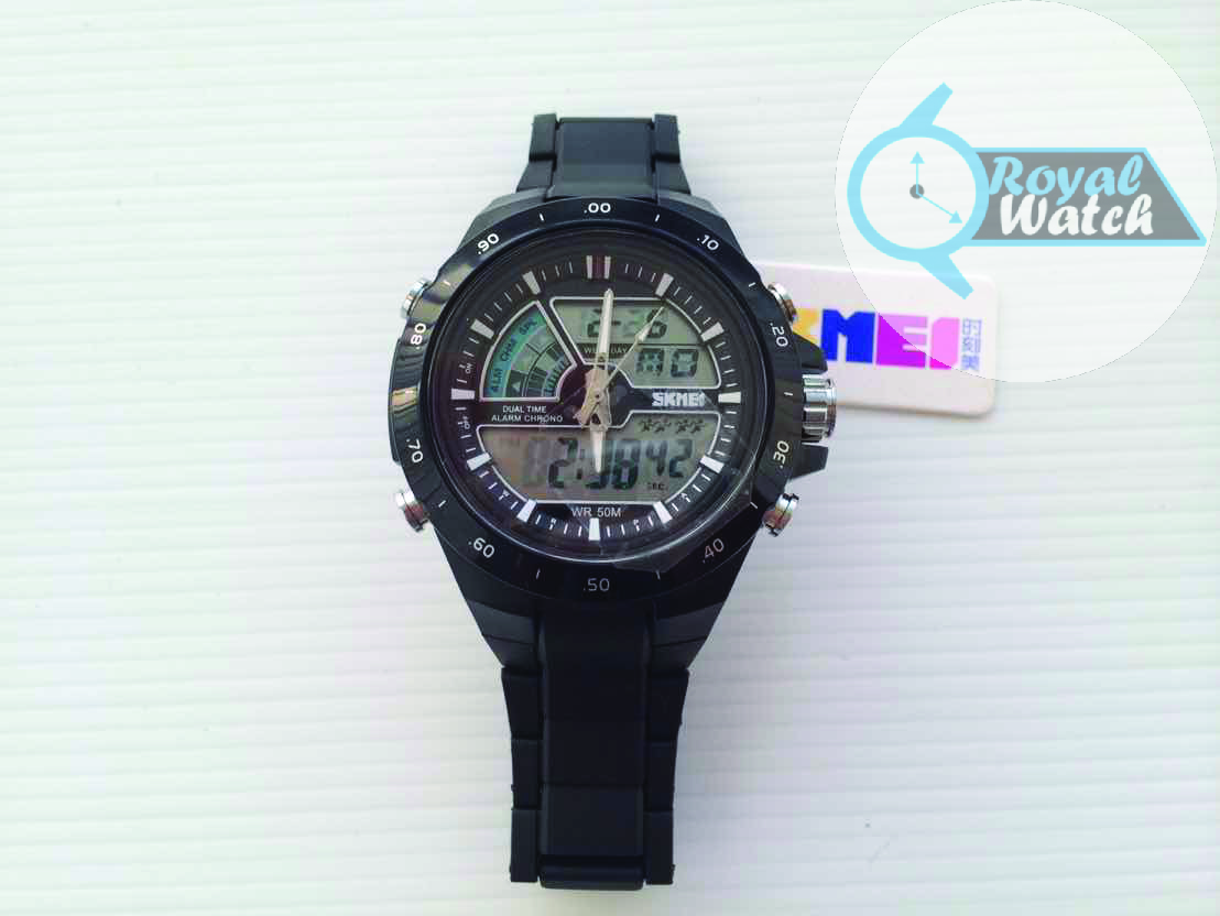 SKMEI AD 1016 Black Jam tangan pria analog mewah