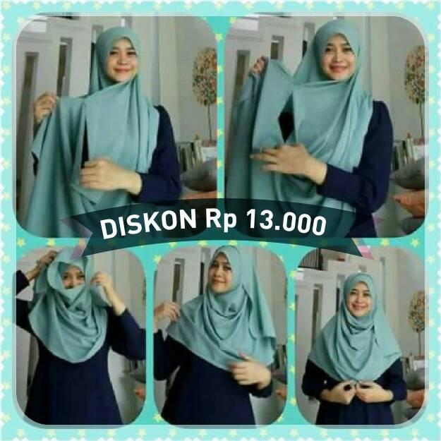 hijab instan/ instan zaina bahan diamond tebal/ kerudung/ jilbab