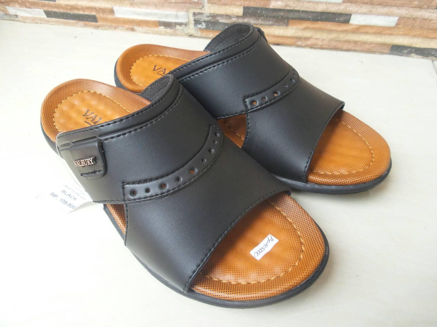 Jual Valbury Sandals Original - Slop - BlackBrown ...