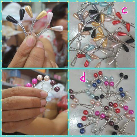 clip hijab turki mutiara bulat dan lonjong