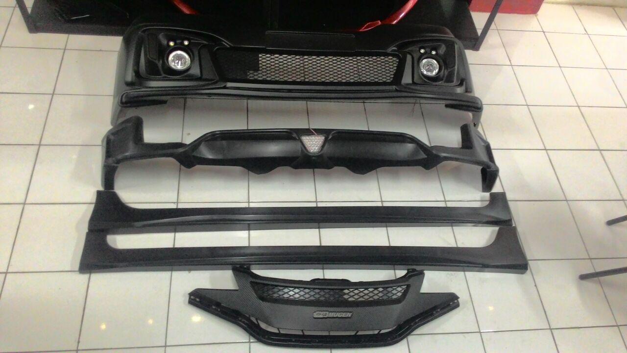 Bodykit Honda Jazz GK5 Mugen Full Bumper - Grade S