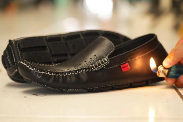 Sepatu Kickers Moccasin M01 Hitam Kulit Asli