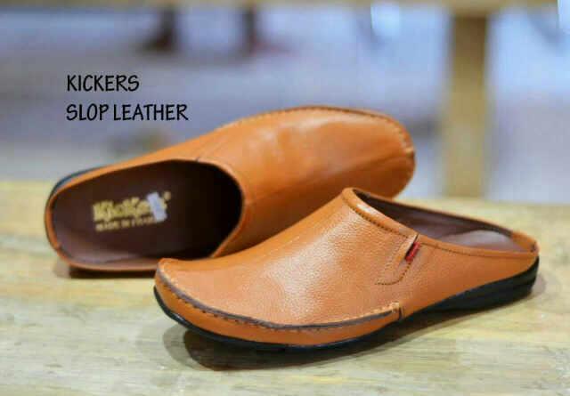 Sepatu Kickers Bustong Tan Kulit Asli
