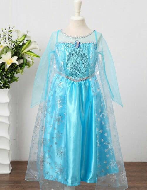 jual kostum elsa frozen  dress baju pesta import gaun