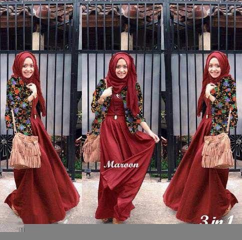 Vania flow hijab marun