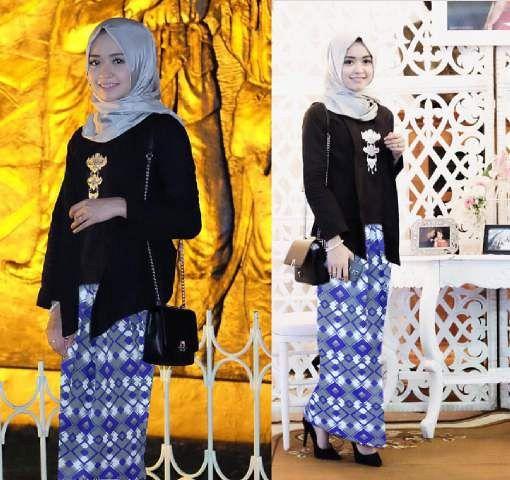 Kebaya ungu hijab 3in1