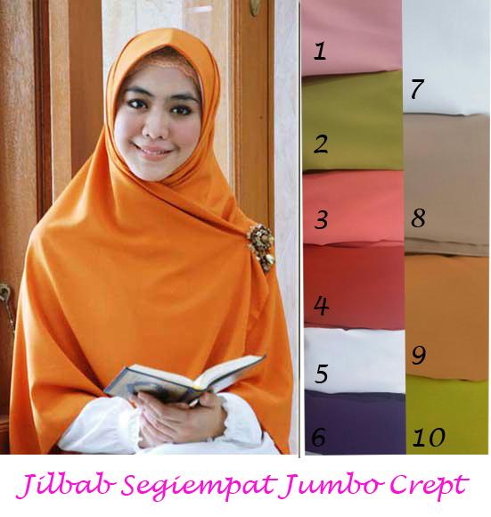 Jilbab/Hijab/Kerudung/Segiempat/khimar Jumbo Crept