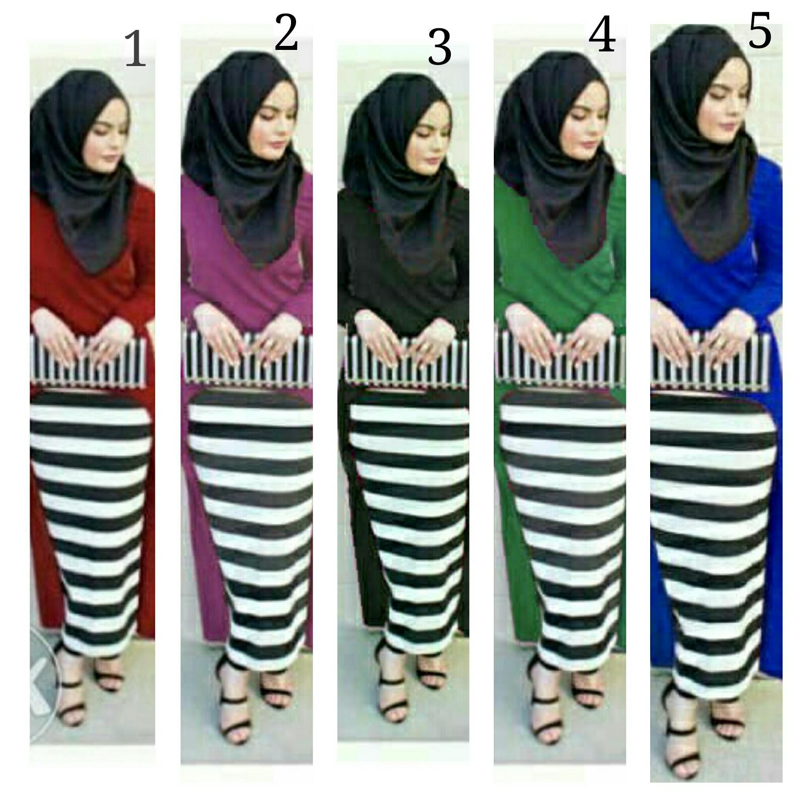 Gamis/Baju muslim Hijab Jelita 3in1