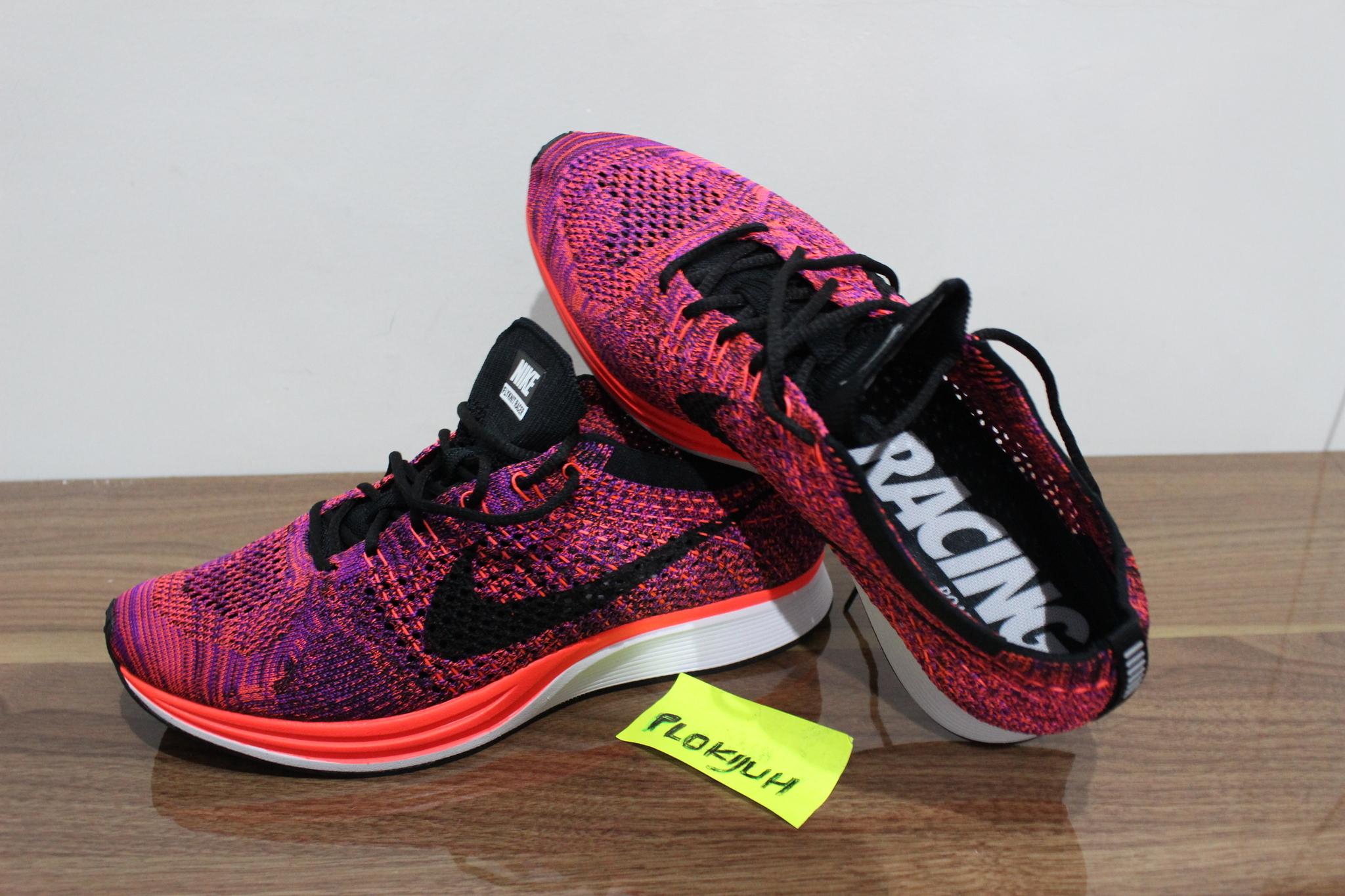 Jual Sepatu Nike Flyknit Racer Acai Berry Original ...