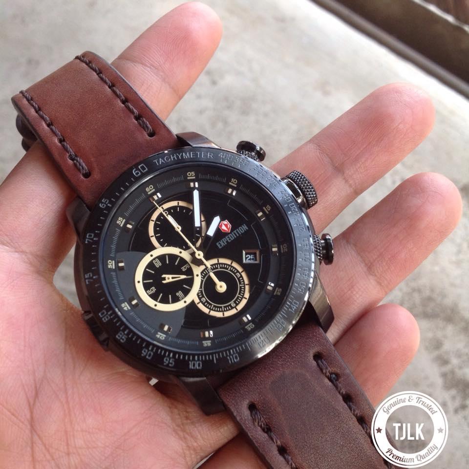 Jual Jam Tangan Expedition E 6372 E6372 Mc Brown Black Original Leather Warungtjilik Tokopedia