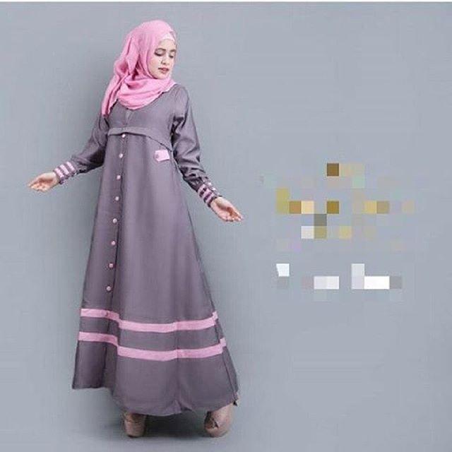 Baju Hijab Murah Syakira Abaya Ratu Grey (Tanpa Pashmina)