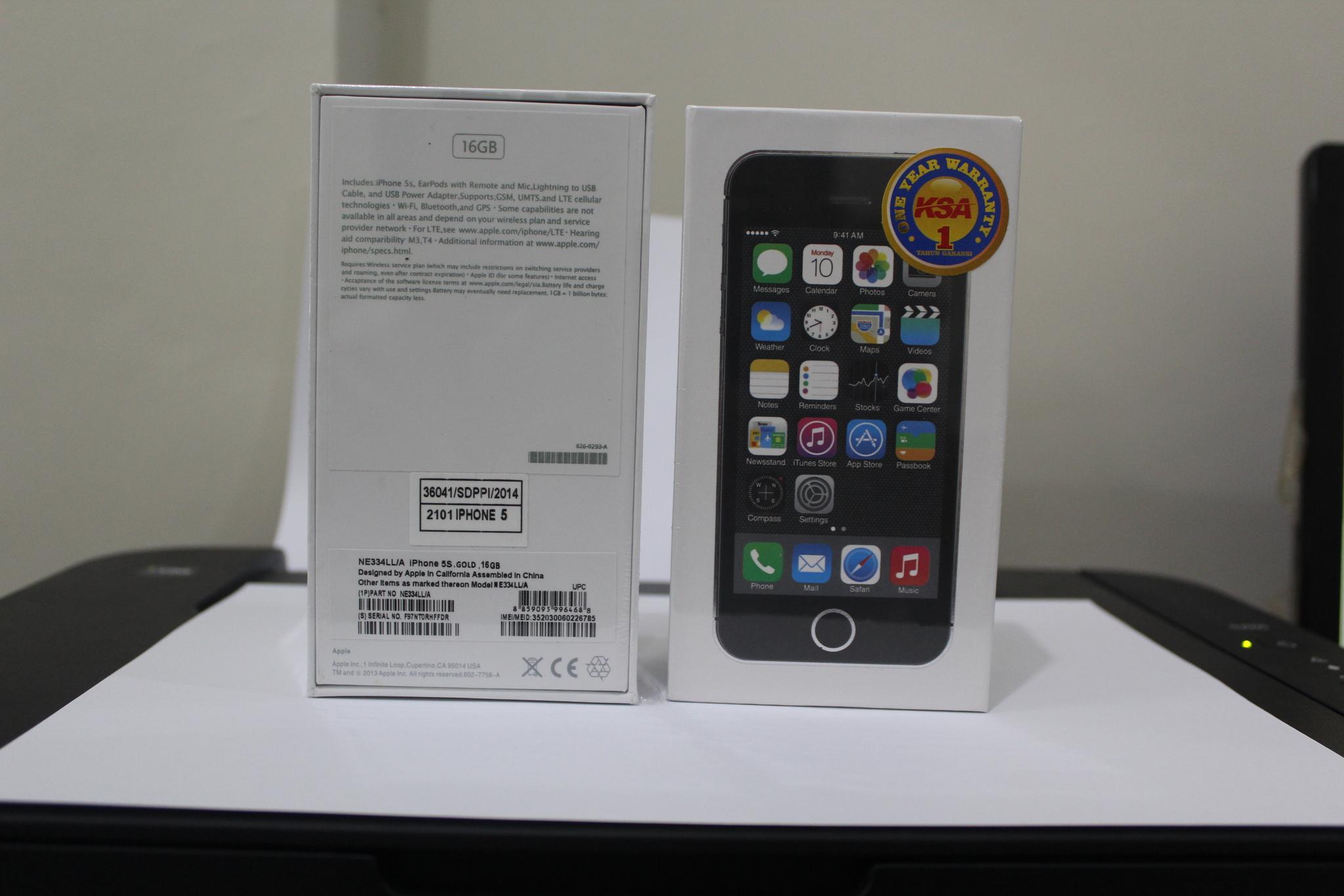 Jual Iphone 5s 16 Gb Grey Garansi Distributor Ksa K Line Tokopedia 5 1 Tahun