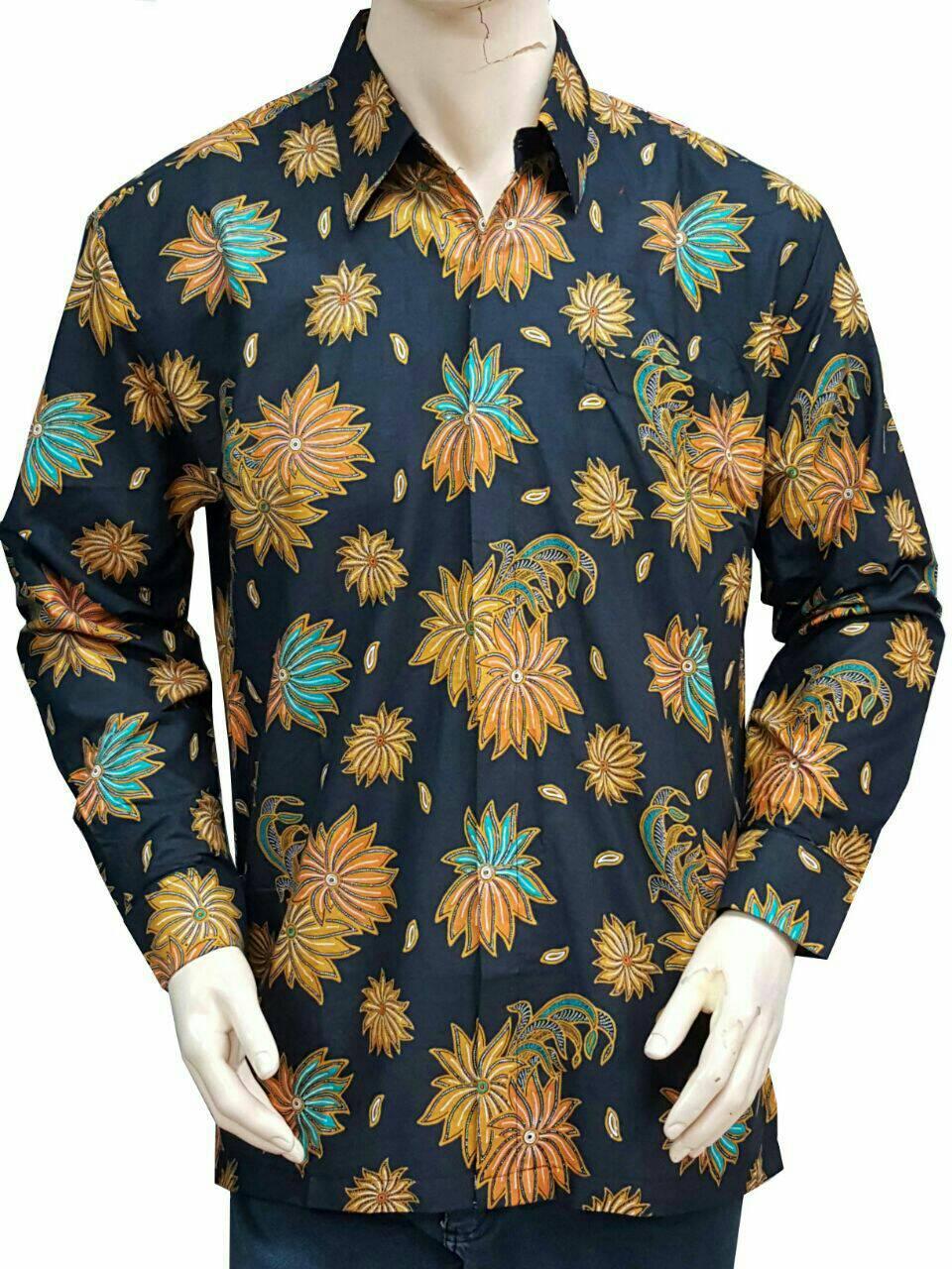 Features Atasan Blouse Batik Wanita Blus Kerja Lengan Panjang adb9ed4e2c
