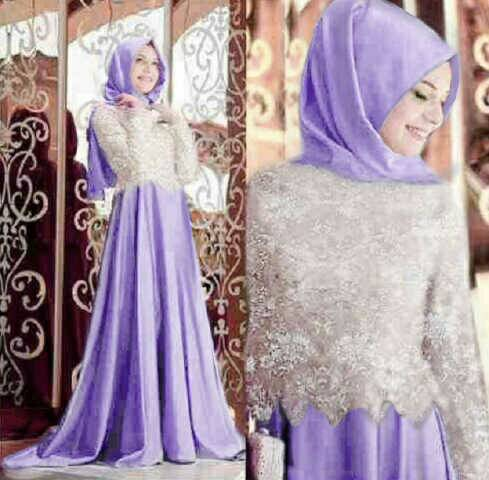 N1005 CAVALLY SOFT PURPLE hijab maxi dress