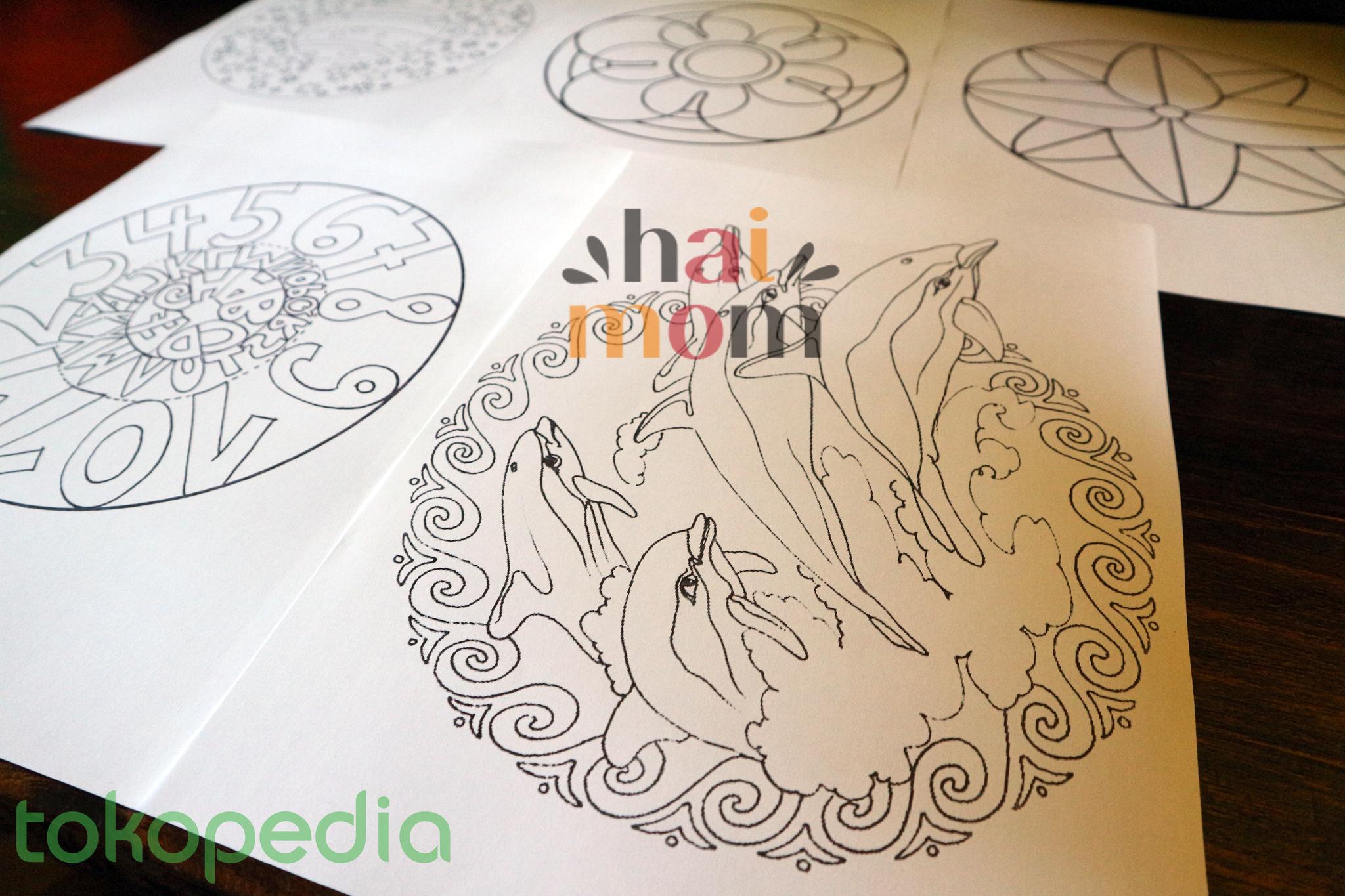 Coloring book untuk dewasa - Jual Mewarnai Untuk Dewasa Coloring For Adults Mandala Easy For Kids Hai Mom Tokopedia