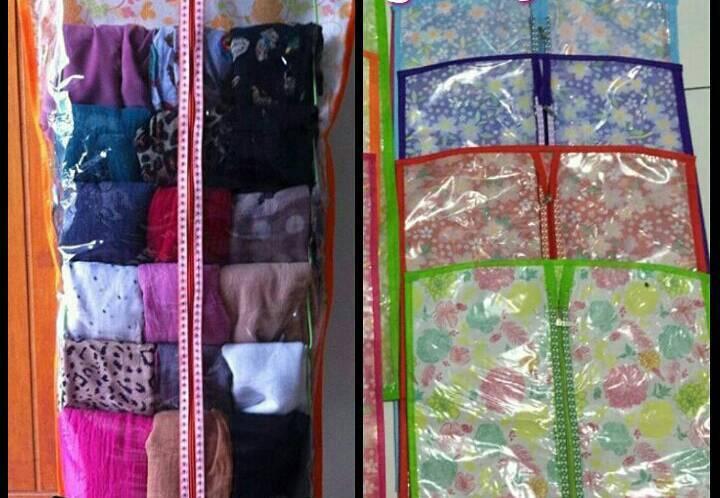 Tempat penyimpanan gantungan kerudung jilbab hijab serbaguna