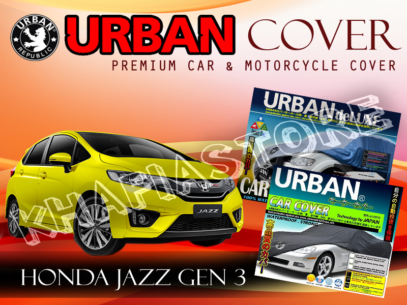 JAZZ GEN 3 BLACK SILVER COVER SELIMUT MOBIL URBAN WATERPROOF