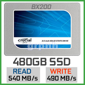SSD Crucial BX200 480GB - Value & Durable