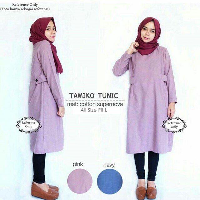 Baju Hijab Murah Tamiko Tunik Pink