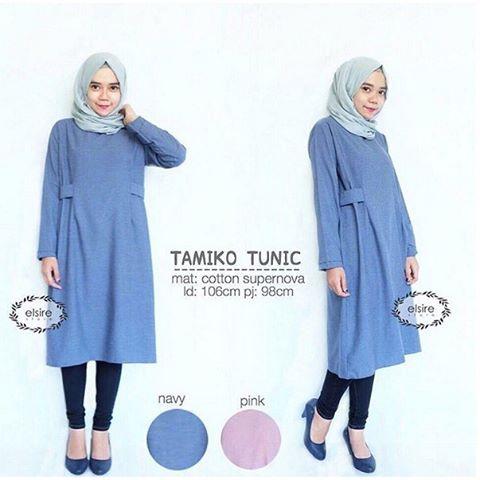 Baju Hijab Murah Tamiko Tunik Blue