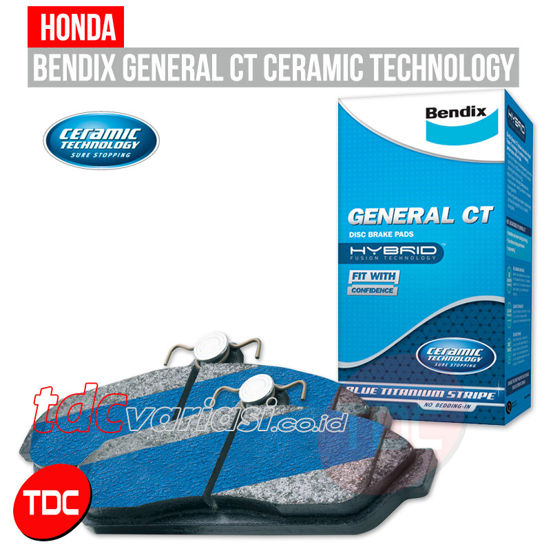 HONDA JAZZ  & CITY VTEC  R BRAKE PAD BENDIX    - TDC  VARIASI