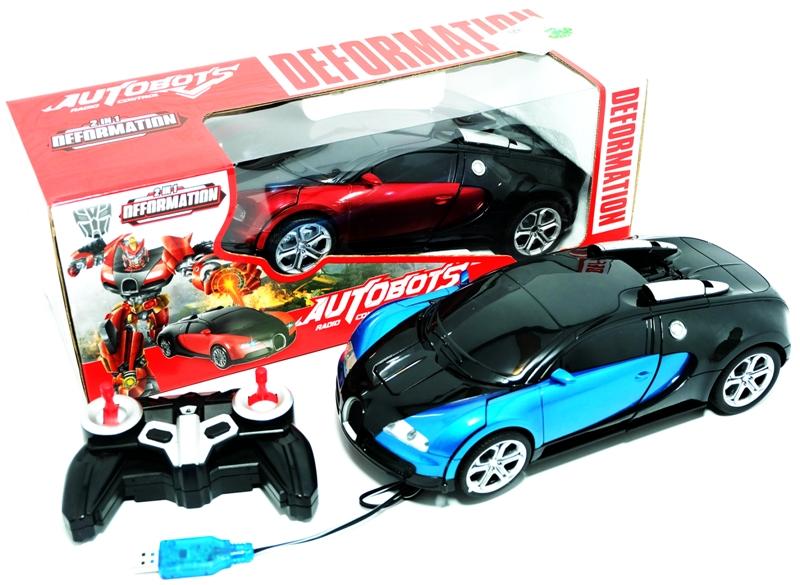 Jual Mainan Mobil Rc Autobots Deformation 2 In 1 Biru Merah