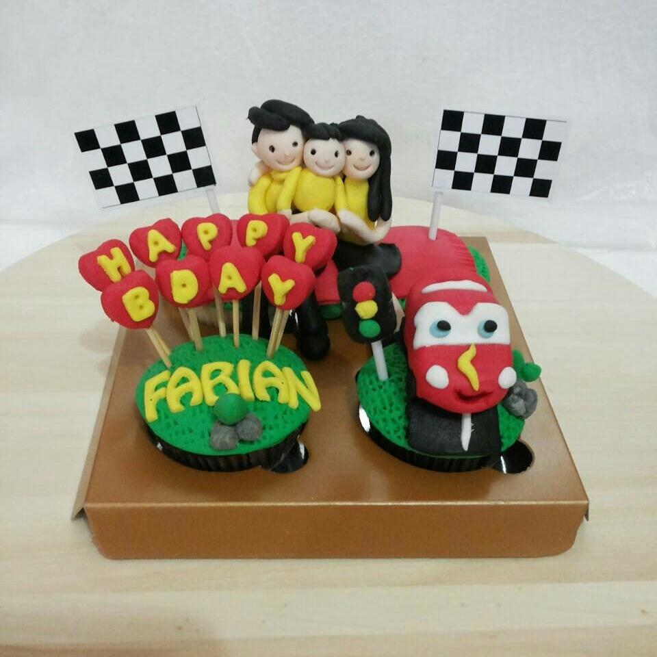 Jual Cupcake Birthday Tema Cars Cake Karakter Kue Ultah Anak