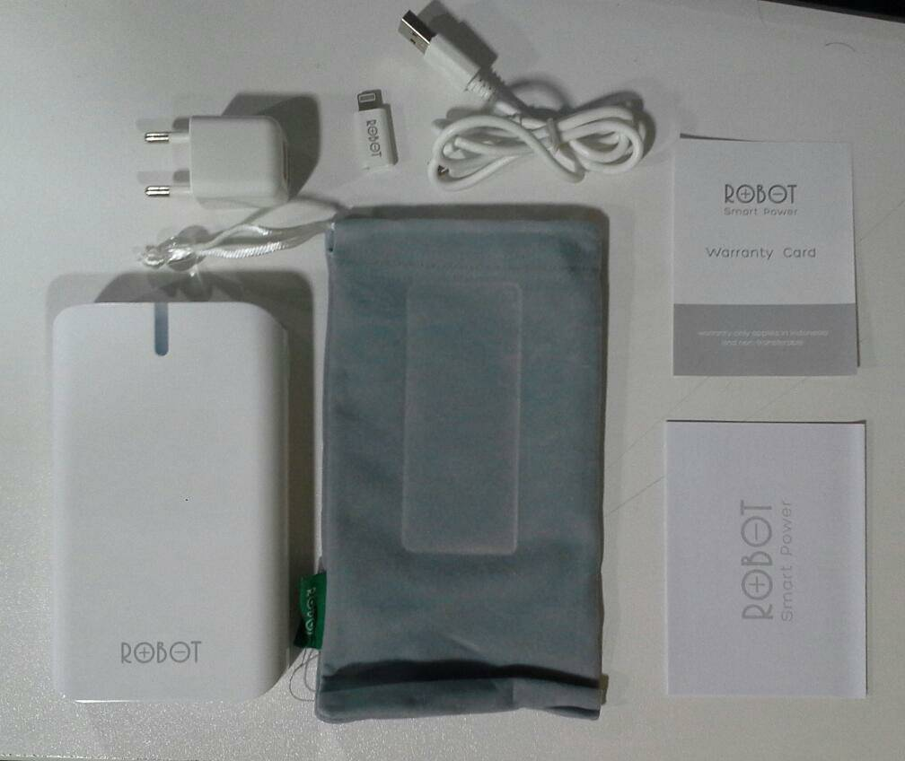 Jual Power Bank Robot 13000mah Original Har Acc Tokopedia Rt800 20000mah