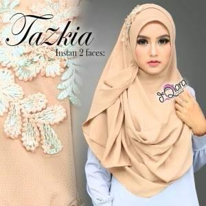 khimar / bergo /hijab /jilbab syari pashmina instan tazkia 2 faces