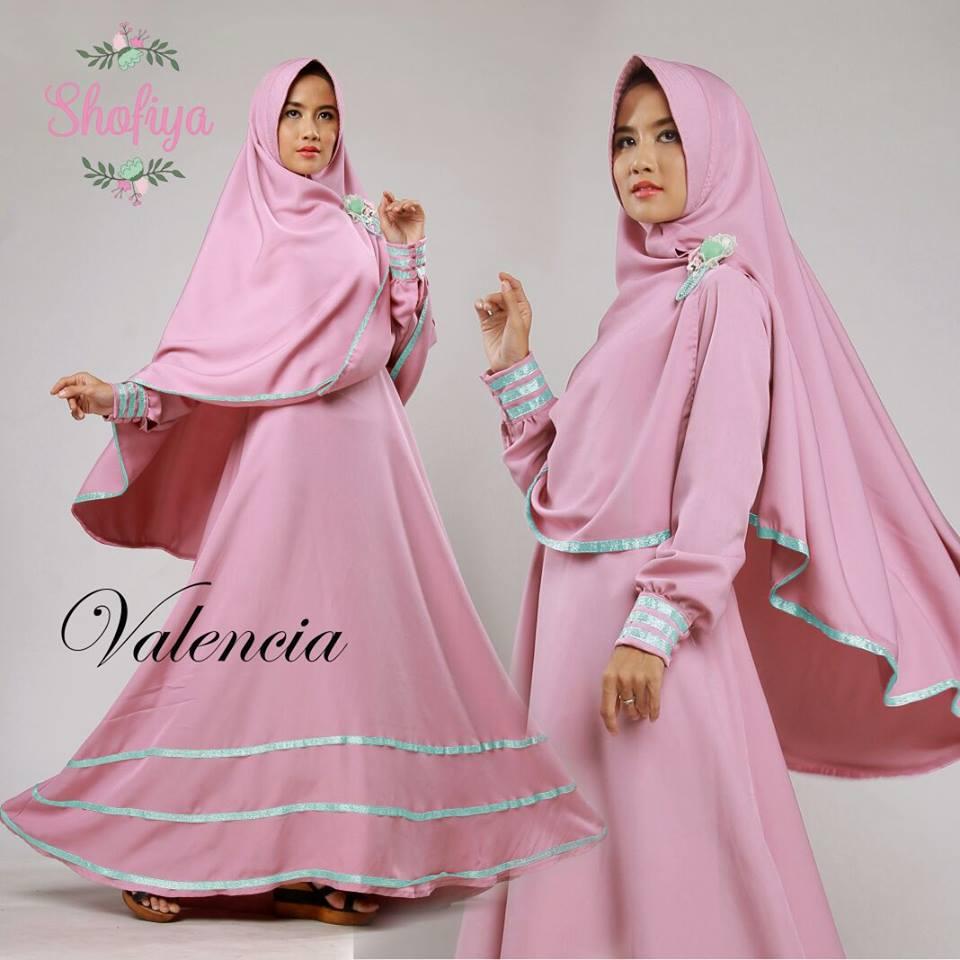 Baju Gamis Warna Pink