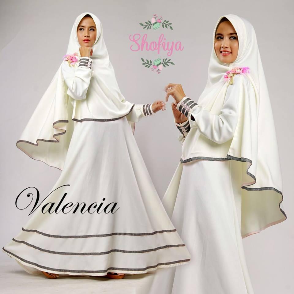 Jual Gamis Valencia Syar 39 I Warna Putih Princess Rapunzel