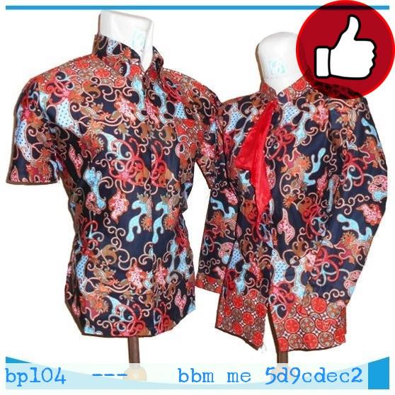 Batik Pria Pekalongan: Jual BP104 Kemeja Batik Pekalongan Elegan Pasangan Modern